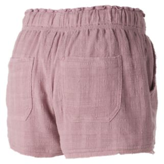 Juniors' Rewind Raw Edge Shortie Shorts