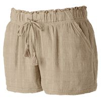 Juniors' Rewind Raw Edge Shortie Shorts