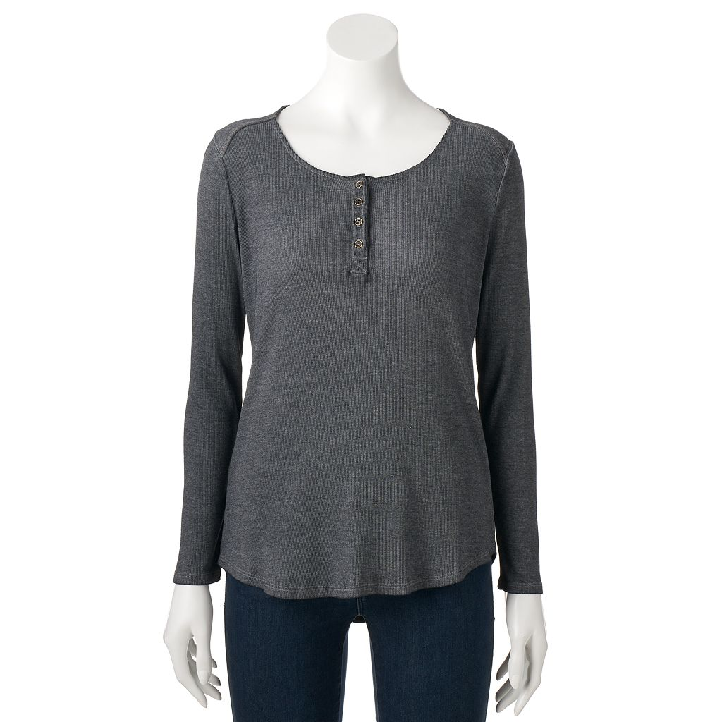 Women's SONOMA Goods for Life™ Ribbed Henley Tee