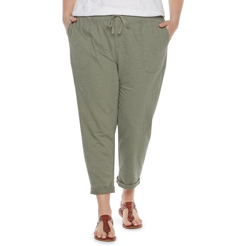 Plus Size SONOMA Goods for Life™ Beach Fleece Cuffed Pants