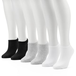 Women's Keds 6-pk. Solid Low-Cut Liner Socks