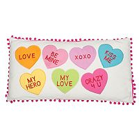 Levtex Candy Hearts Oblong Throw Pillow