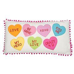 Levtex Candy Hearts Oblong Throw Pillow