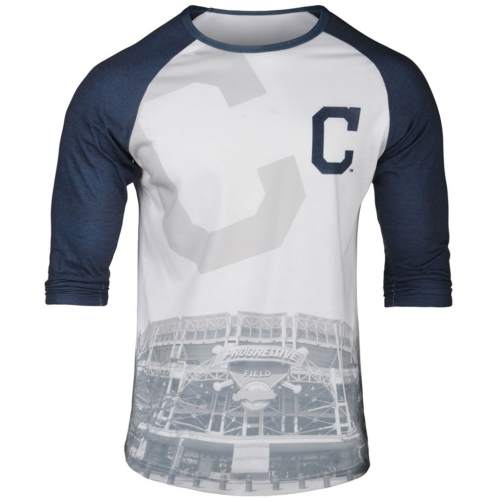 Men's Cleveland Indians Raglan Baseball Tee