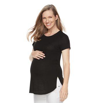 Maternity a:glow Ribbed Crewneck Tee
