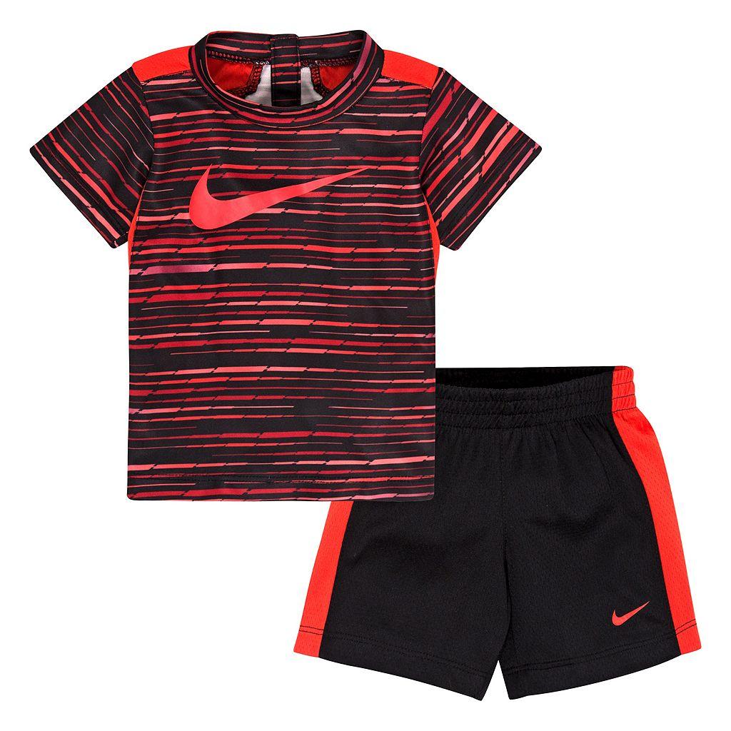 Baby Boy Nike Predator Print Tee & Shorts Set