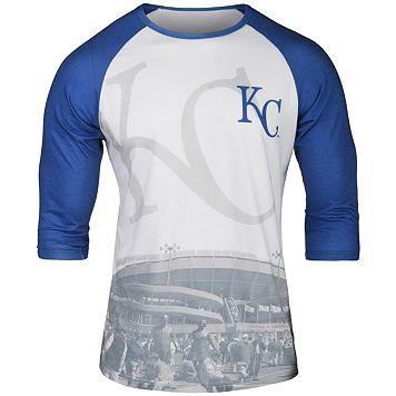 Men's Kansas City Royals Raglan Baseball Tee