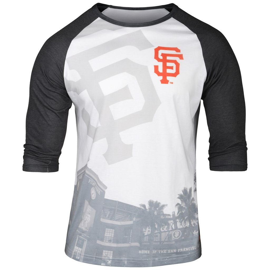 Men's San Francisco Giants Raglan Baseball Tee