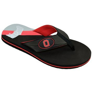 Men's College Edition Ohio State Buckeyes Flip-Flops