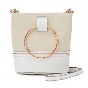 LC Lauren Conrad Mini Bucket Crossbody Bag