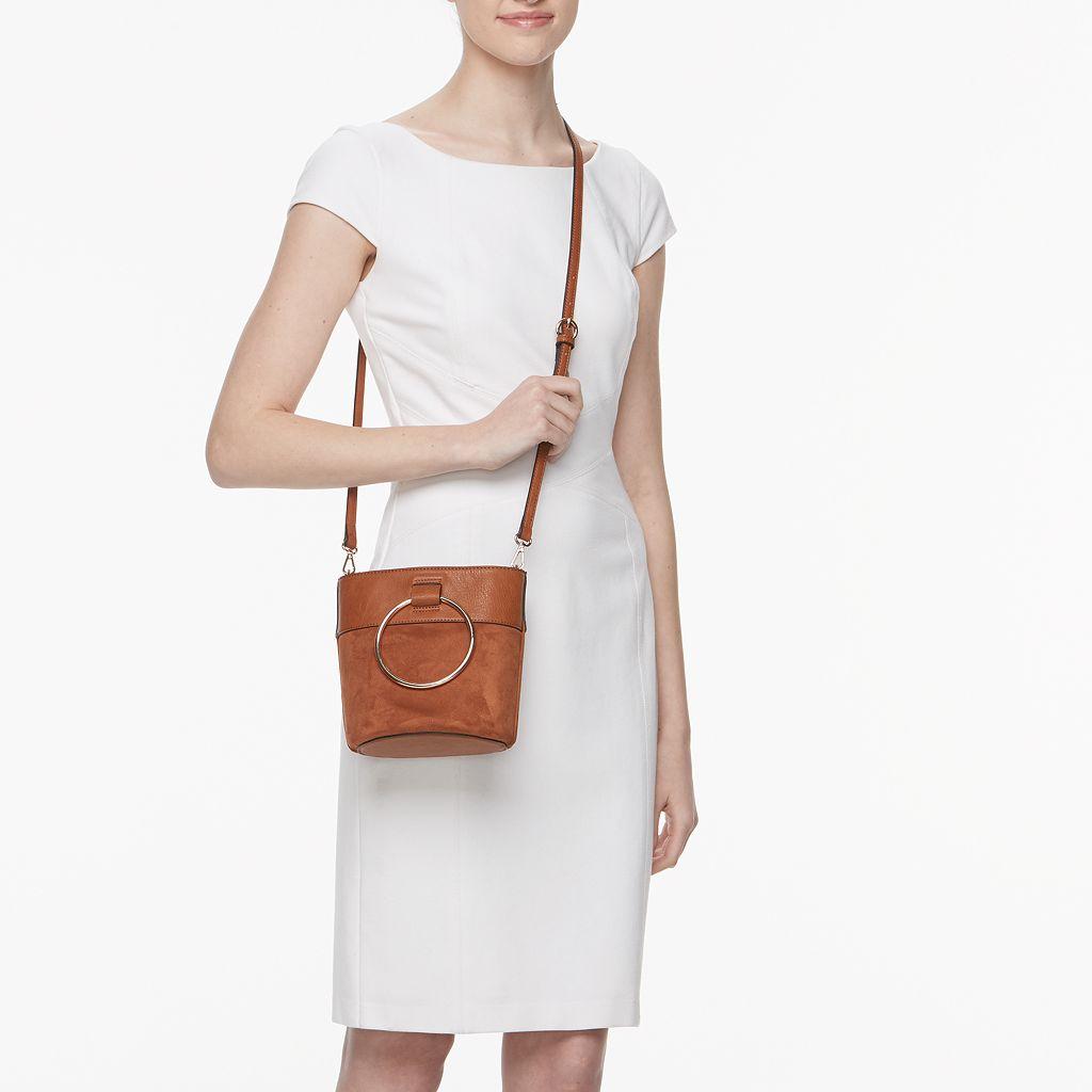 LC Lauren Conrad O-Ring Mini Bucket Crossbody Bag