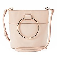 LC Lauren Conrad O-Ring Mini Bucket Crossbody Bag