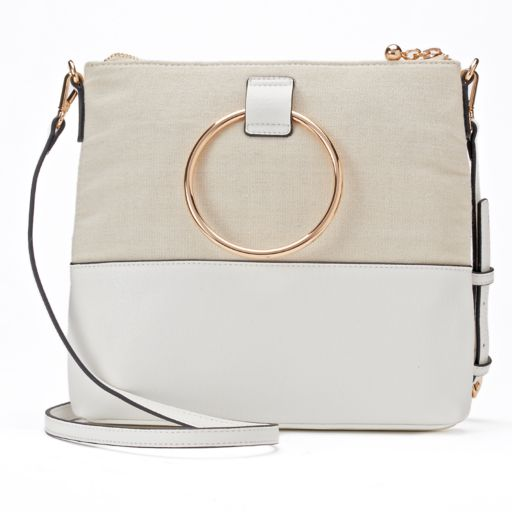 LC Lauren Conrad O-Ring Square Crossbody Bag