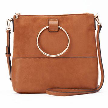 LC Lauren Conrad O-Ring Square Crossbody Bag