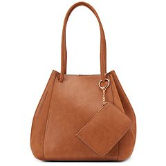 LC Lauren Conrad Unlined Drawstring Tote with Pouch