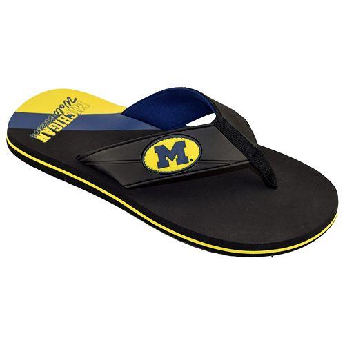 Men's College Edition Michigan Wolverines Flip-Flops