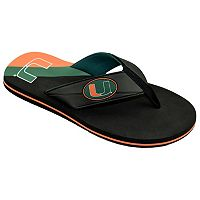 Men's College Edition Miami Hurricanes Flip-Flops