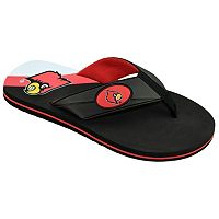 Men's College Edition Louisville Cardinals Flip-Flops
