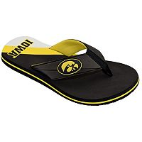 Men's College Edition Iowa Hawkeyes Flip-Flops