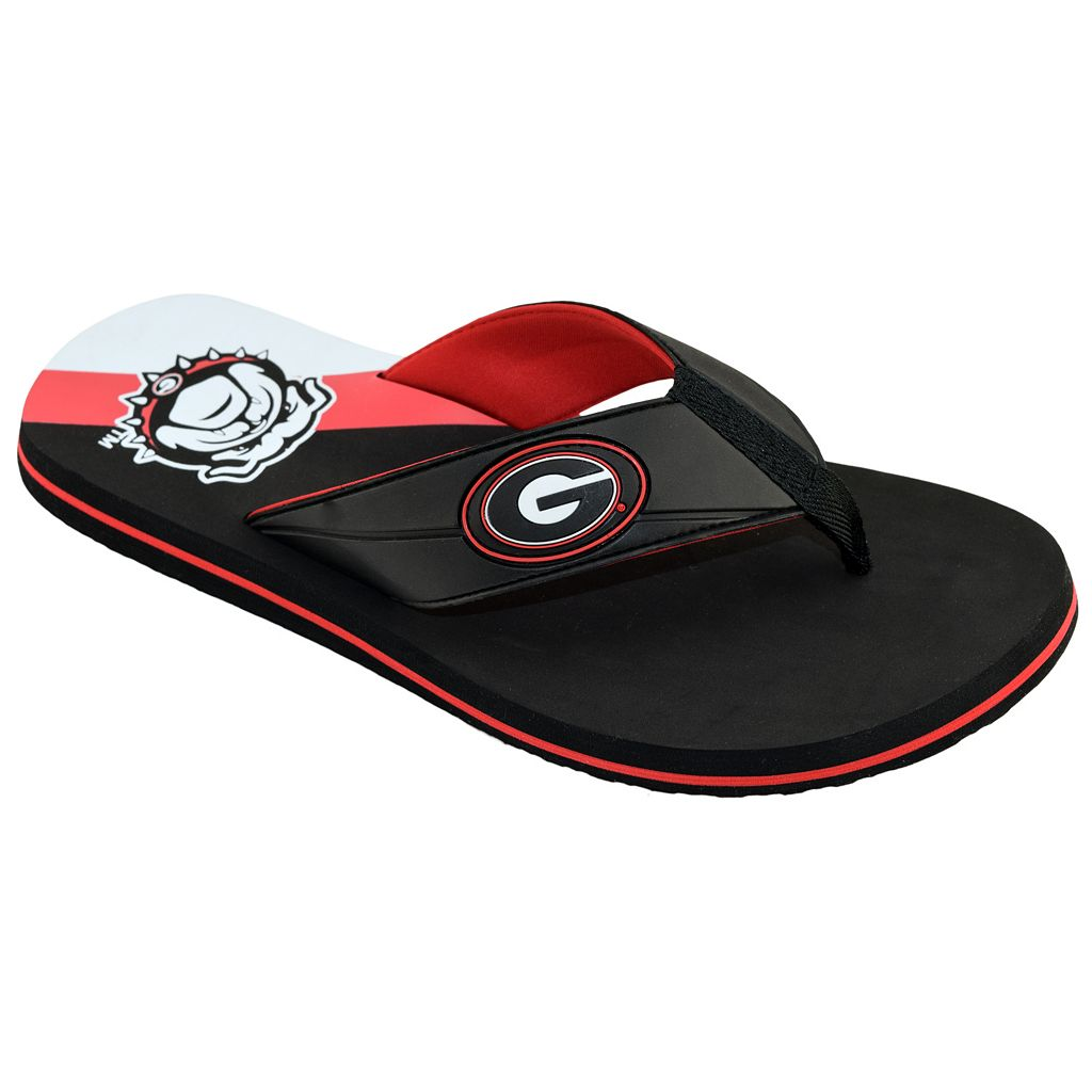Men's College Edition Georgia Bulldogs Flip-Flops