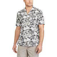 Men's Chaps Classic-Fit Floral Performance Button-Down Camp Shirt