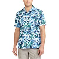Men's Chaps Classic-Fit Floral Performance Button-Down Camp Shirt