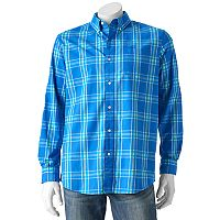 Men's Chaps Plaid Stretch Button-Down Shirt