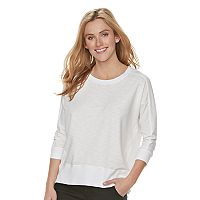 Women's SONOMA Goods for Life™ Pieced French Terry Sweatshirt