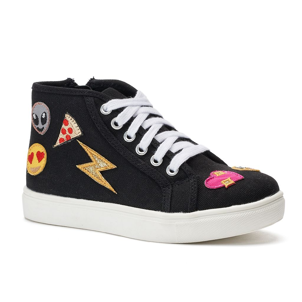 SO® Linden Girls' Emoji Sneakers