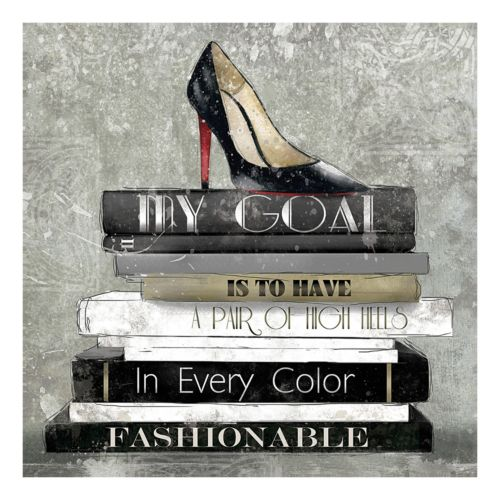 """High Heels In Every Color"" Canvas Wall Art"