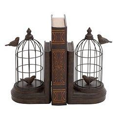 Birdcage Bookends 2-piece Set