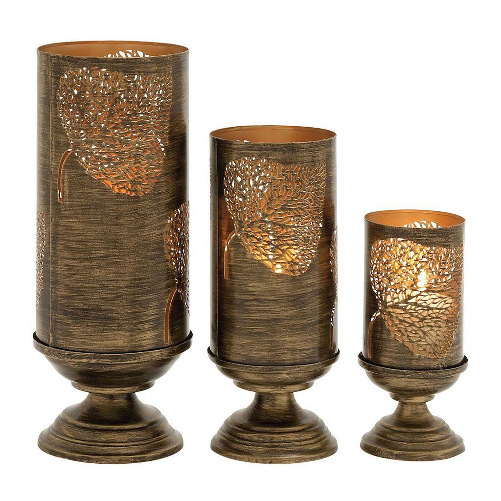 Elm Leaf Candle Holders 3-piece Set