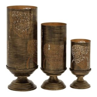 Elm Leaf Candle Holders 3-piece Set