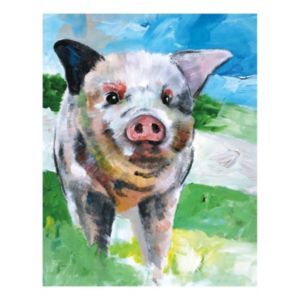 Farm Pig Canvas Wall Art