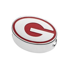 LogoArt Sterling Silver Georgia Bulldogs Bead