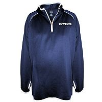 Plus Size Majestic Dallas Cowboys Quarter-Zip Fleece Pullover