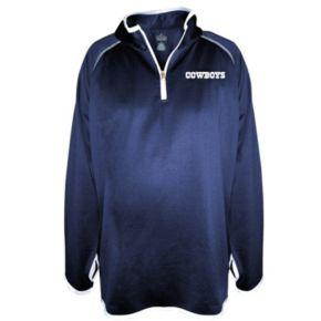 Plus Size Majestic Dallas Cowboys Quarter-Zip Fleece Pullover