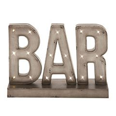 ''Bar'' LED Sign Table Decor