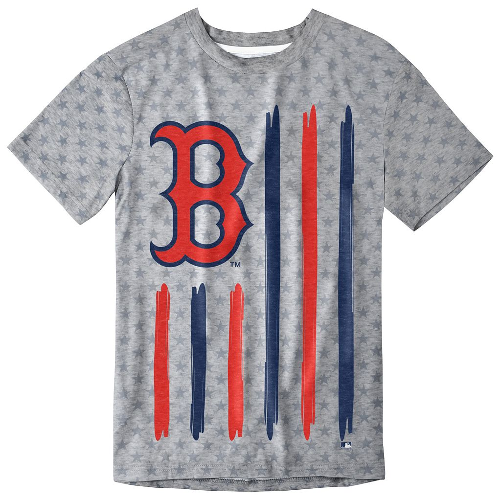 Men's Boston Red Sox Big Logo Flag Tee