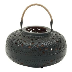 Rustic Reflections Round Lantern Candle Holder