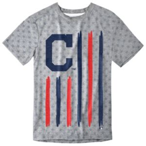 Men's Cleveland Indians Big Logo Flag Tee