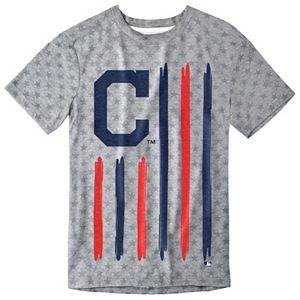 Men's Cleveland Indians Big Logo Flag Tee