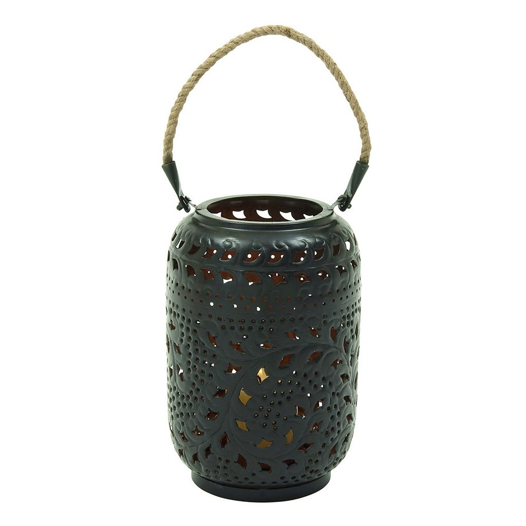 Rustic Reflections Cylinder Lantern Candle Holder