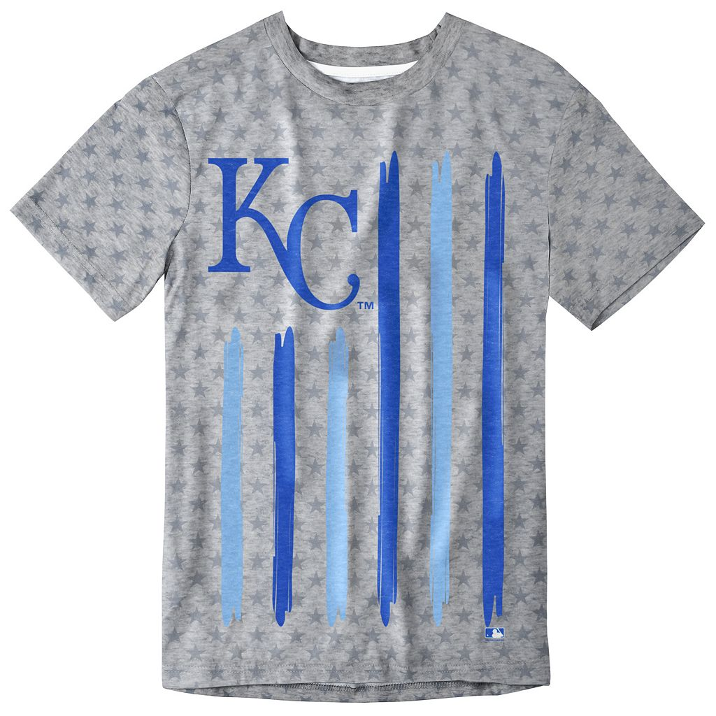 Men's Kansas City Royals Big Logo Flag Tee