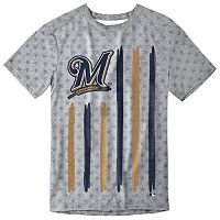 Men's Milwaukee Brewers Big Logo Flag Tee