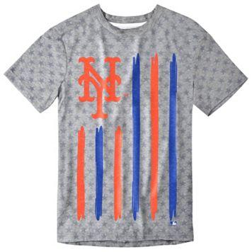 Men's New York Mets Big Logo Flag Tee