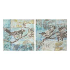 Florentine Songbird II & III Canvas Wall Art 2-piece Set