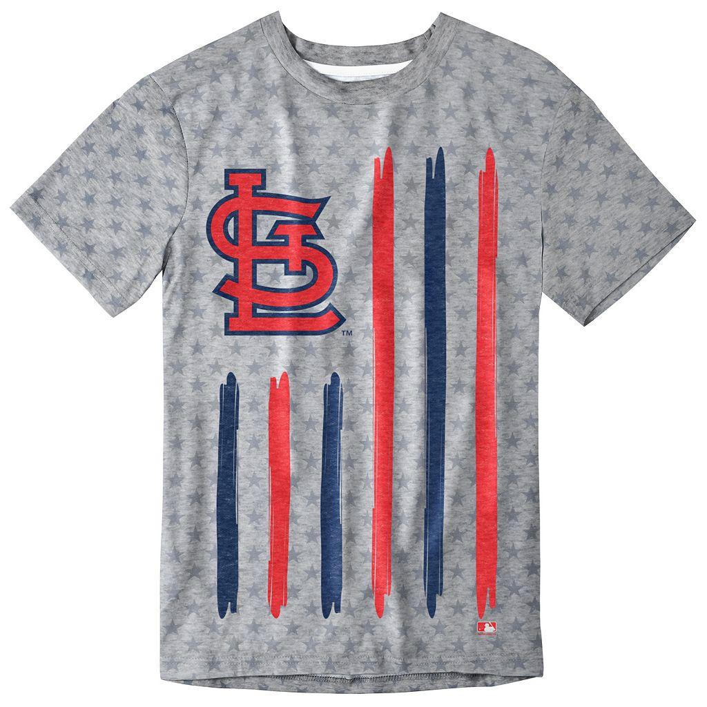 Men's St. Louis Cardinals Big Logo Flag Tee