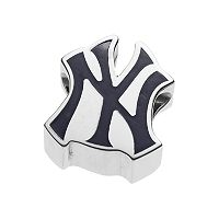 LogoArt Sterling Silver New York Yankees Bead
