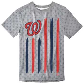 Men's Washington Nationals Big Logo Flag Tee